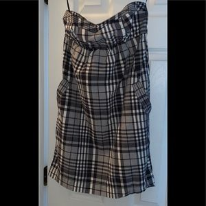 🎉AMERICAN EAGLES OUTFITTER PLAID STRAPLESS DRESS
